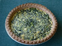 Spinach Yogurt Quiche