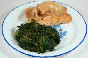 Spinach Stuffing with Turkey