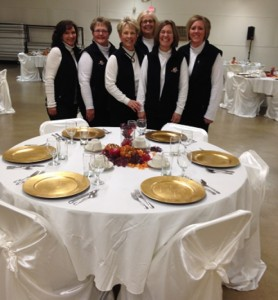 Murray McMurray Hatchery staff preparing for the dinner