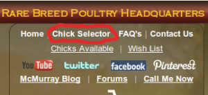 McMurray Hatchery Chick Selector