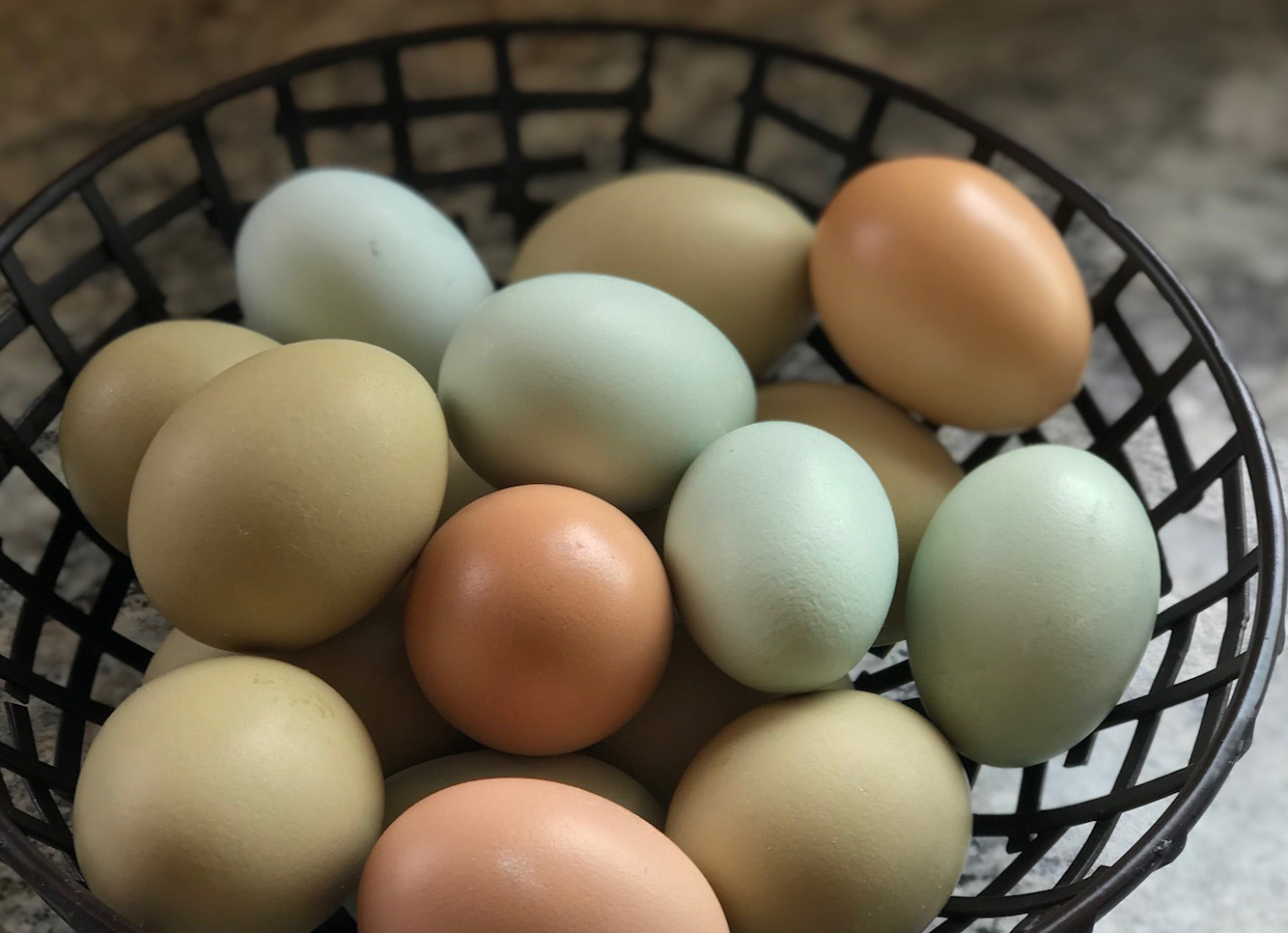 Fresh Eggs: Healthy, Sustainable and Colorful