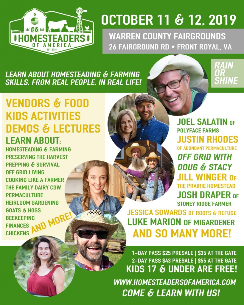 2019 Homesteaders Of America Conference | McMurray Hatchery sponsor exhibitor eduator