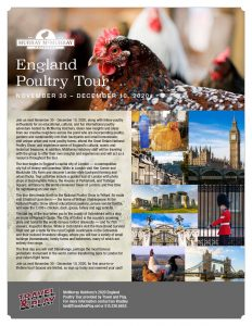 McMurray Hatchery 2020 England Poultry Tour Information Sheet